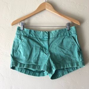 "J. Crew Chino Shorts 2.5"" Inseam Forest Green"